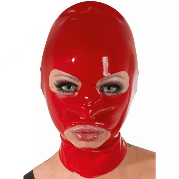Latex 3 Loch Maske rot
