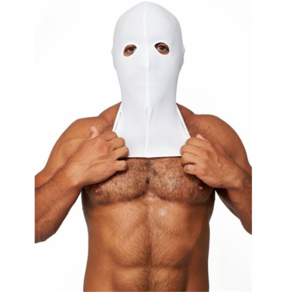 Mr. B Lycra 2 Loch Maske weiss