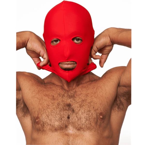 Mr. B Lycra 3 Loch Maske rot