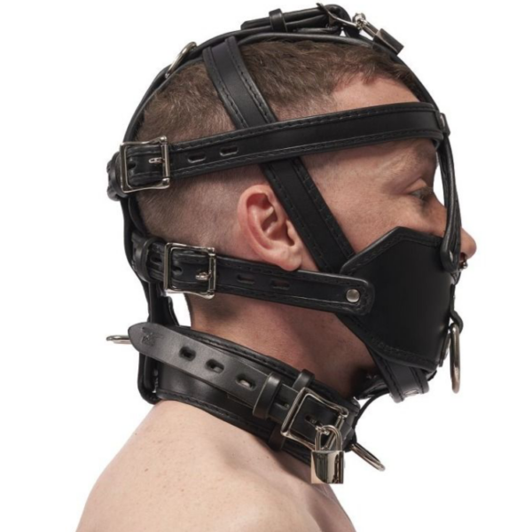Mister B Leather Extreme Muzzle Head Harness