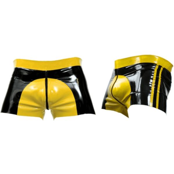 Mister B Rubber Shorts Yellow Saddle