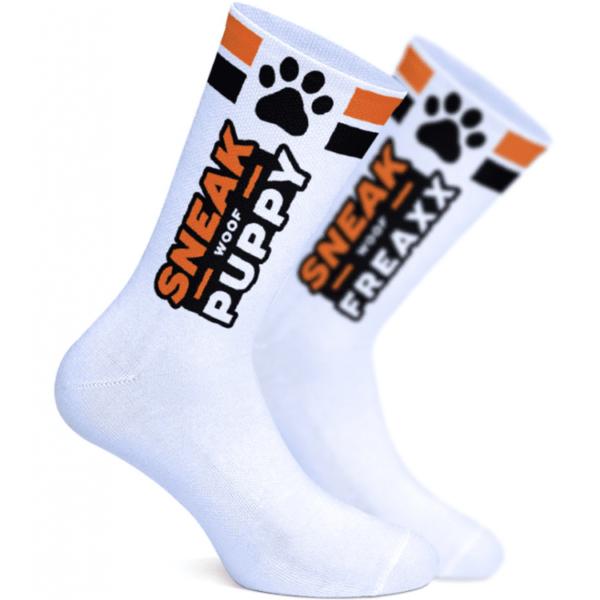 Sneak Socken NEON Woof Puppy Orange