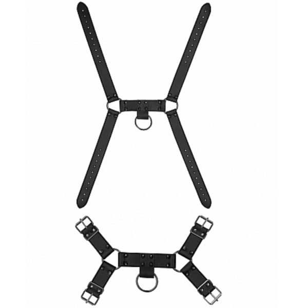 Skulls and Bones Male Harness with Spikes